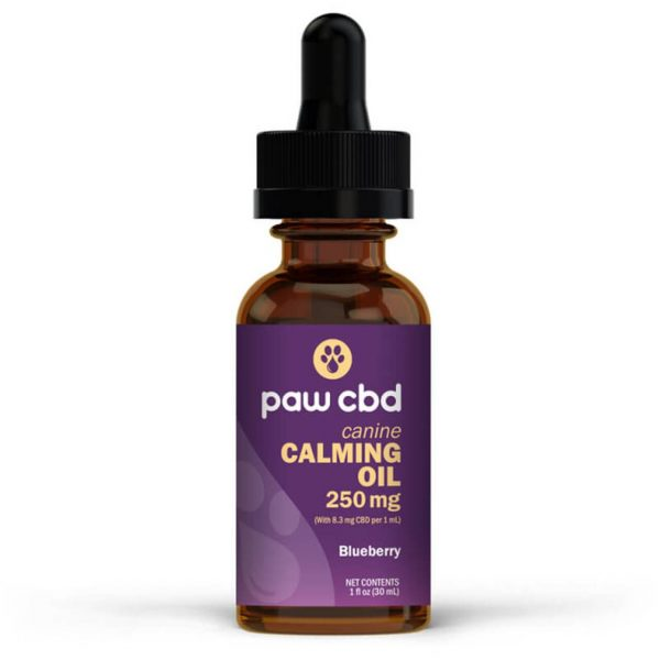 CBD PET TINCTURE - BLUEBERRY CALMING OIL FOR CANINES 250MG