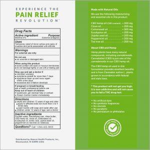 CBD Arthritis Aches & Pain Relief Cream