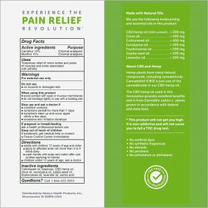 CBD Arthritis Aches & Pain Relief Ointment